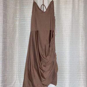 Cute nude dress. Fashion nova